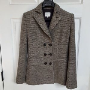 Armani Wool Double Breasted Blazer - Size 2